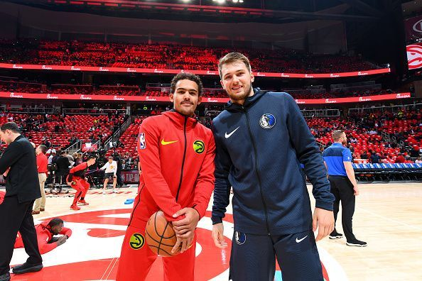 Trae Young and Luka Doncic