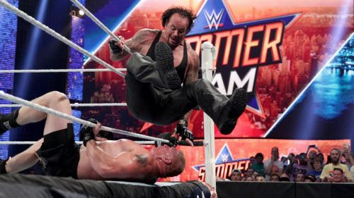 The Undertaker's last SummerSlam appearance came against Brock Lesnar in 2015