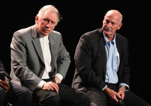 Ian Chappell (on the left) during the ICC Cricket World Cup 2015 Official Launch In Melbourne