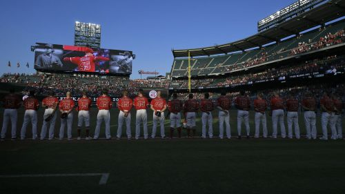 Angels honor Tyler Skaggs at Friday's game