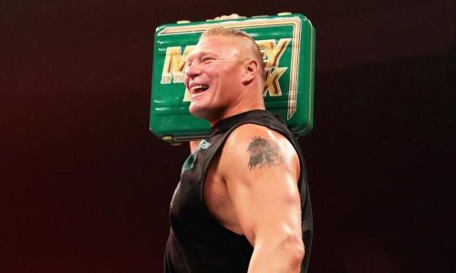 Brock Lesnar is the current men's Money in the Bank briefcase holder