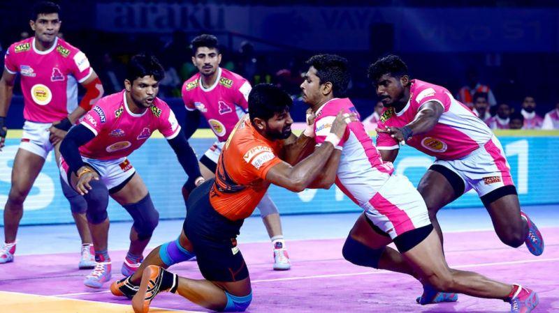 Jaipur Pink Panthers had thrashed U Mumba in their tournament opener