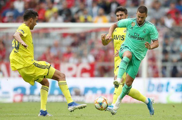 Hazard struggled against Fenerbahce