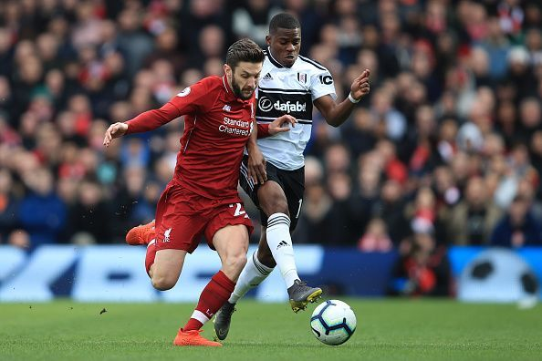 Adam Lallana was the standout player in the first half