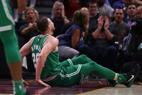 Gordon Hayward writhes in pain