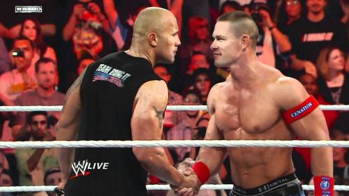 Cena and The Rock