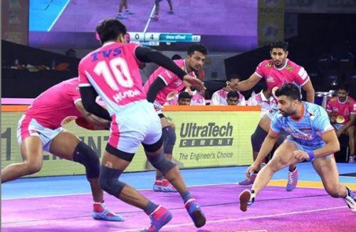 प्रो कबड्डी 2019, 13वां मैच: जयपुर पिंक पैंथर्स vs बंगाल वॉरियर्स