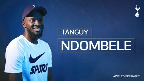 Tanguy Ndombele became Tottenham's club-record signing