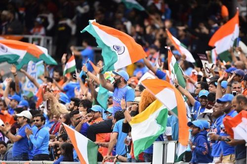Indian cricket fans during the 2019 World Cup