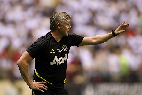 Ole Gunnar Solskjaer during the game against Tottenham Hotspur
