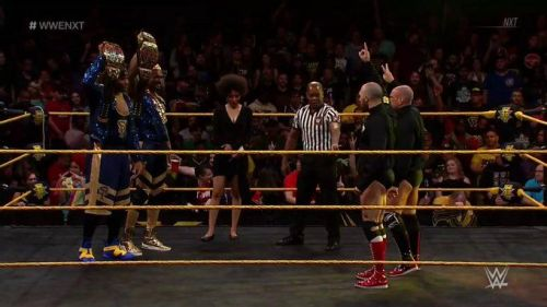 The NXT Tag Titles are on the line