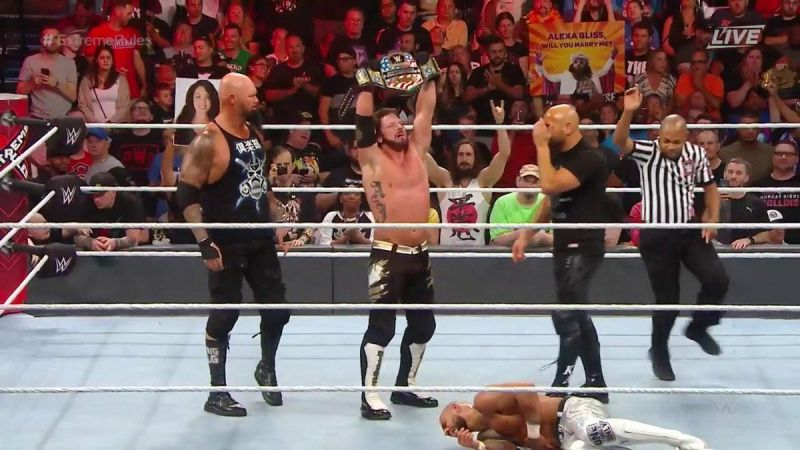 AJ Styles was victorious on the night
