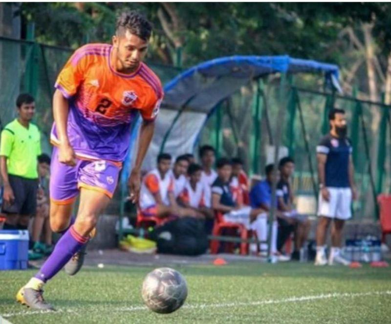 Nikhil Prabhu in action for FC Pune City in the MDFA Elite Division