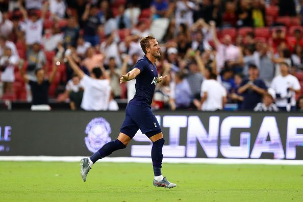 Harry Kane was one of the five men who won the game for Tottenham