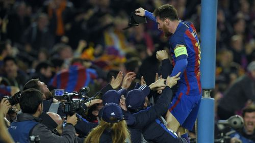 Barcelona vs PSG: Champions League Round-of-16. Despite Neymar's efforts, it was this picture that made the headlines