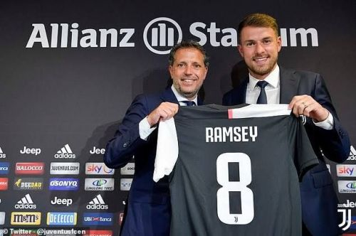 Juventus unveiled Aaron Ramsey on Monday