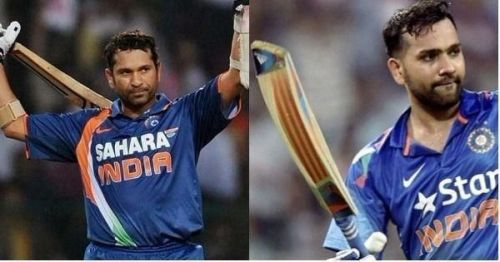 Sachin Tendulkar and Rohit Sharma are two of the five batsmen on this list