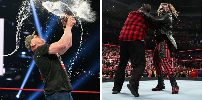 Austin gave a toast to WWE, whilst Mick Foley fell victim to the Fiend Bray Wyatt.