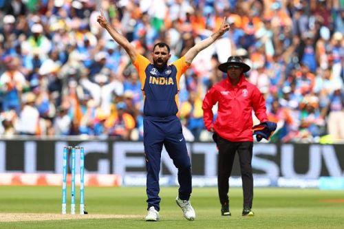Mohammed Shami took five wickets in Birmingham