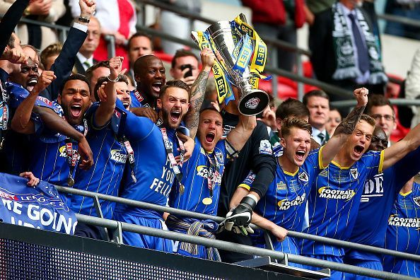 AFC Wimbledon win promotion to League One