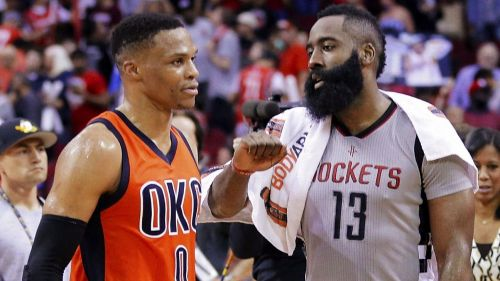 Westbrook and Harden teaming up again after seven years