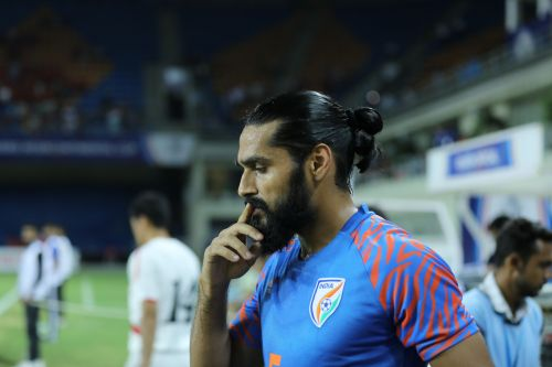 Sandesh Jhingan was substituted owing to an injury and India played the majority of the game with Adil Khan and Subhasish Bose as center-backs