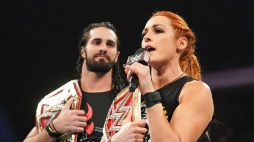 Seth Rollins and Becky Lynch were a big part of WWE RAW tonight