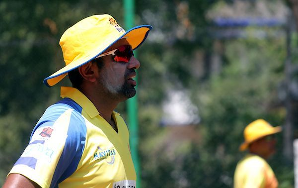R.Ashwin of Dindigul Dragons during the practice session of Dindigul Dragons, ahead of the fourth edition of the Tamil Nadu Premier League 2019 at the Indian Cements Cricket Ground