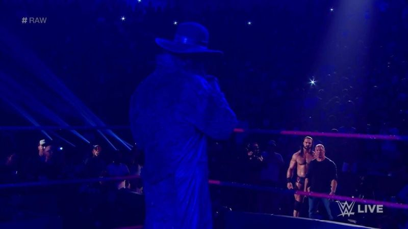 The Undertaker confronted Shane McMahon and Drew McIntyre