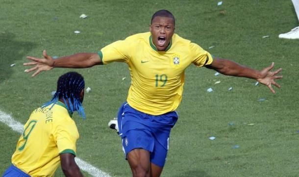 Baptista after scoring Brazil