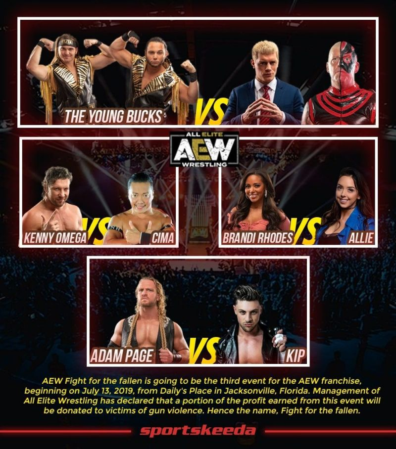 AEW Fight For the Fallen Match Card