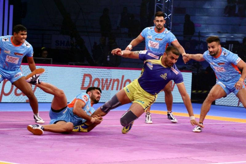 Ran Singh (R) was drafted into the squad by the Tamil Thalaivas for ₹55 lakh