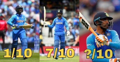 World cup 2019 Indian players ratings
