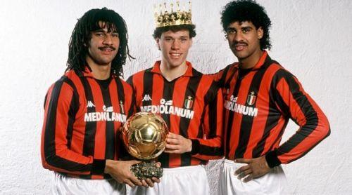 The Dutch trio of Gullit, Van Basten and Rijkaard