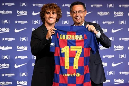 Griezmann sealed his dream move to Barcelona earlier this month
