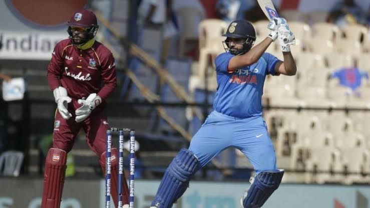 Rohit Sharma has three 50+ scores against West Indies