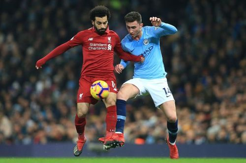 Manchester City and Liverpool facing off in the Premier League