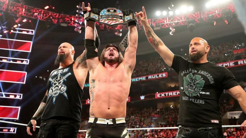Image result for aj styles united states champion raw