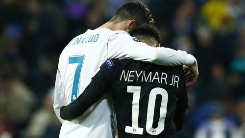 Cristiano Ronaldo embraces Neymar
