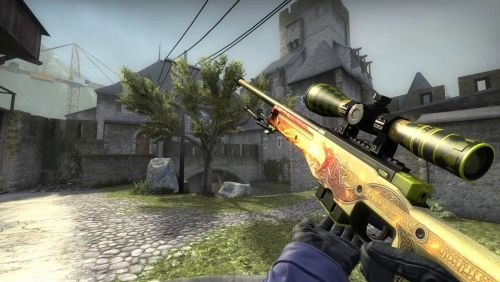 The Dragon Lore, one of the most expensive CSGO skins