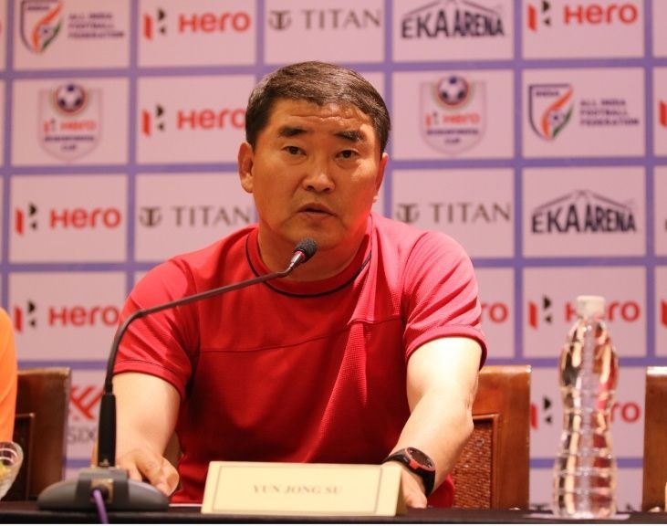 DPR Korea head coach Yun Jong Su