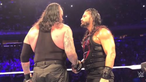 The Undertaker and Roman Reigns shared a post-match handshake