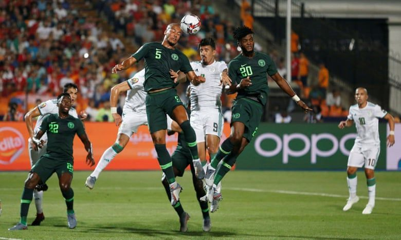 Nigeria and Algerian each won 50% of aerial duels.