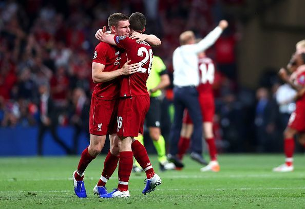 James Milner and Andy Robertson played a crucial role in Liverpool