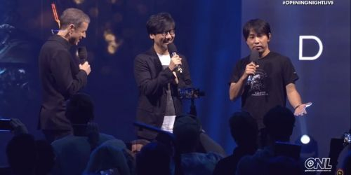 Hideo Kojima at Gamescom Opening Live Event with Geoff Keighley