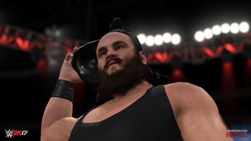 Strowman's first video game appearance, WWE 2K17