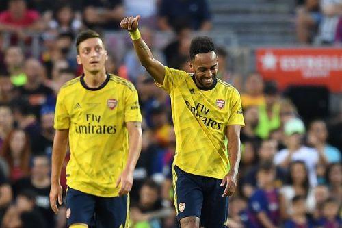 Ozil and Aubameyang impressed for Arsenal