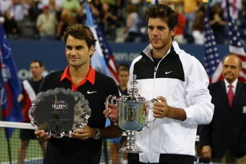 Federer's 40 match win streak at the US Open came to an end in the 2009 final against Del Potro