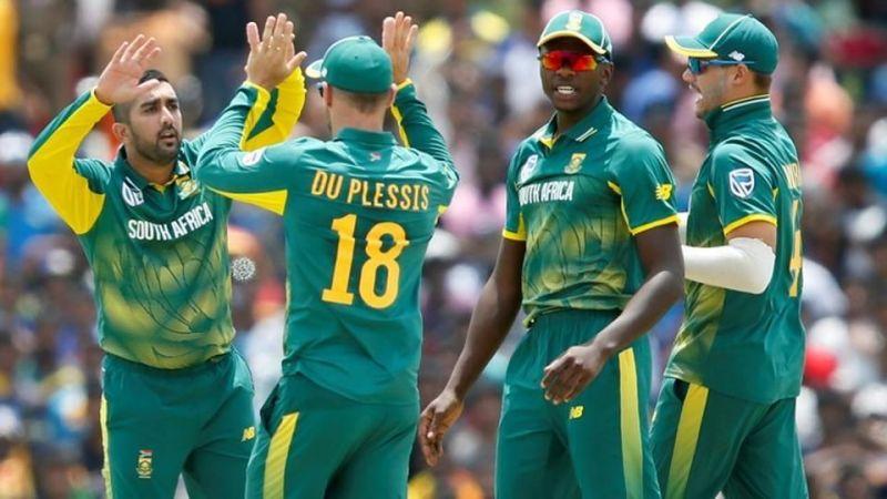 भारत आई साउथ अफ्रीकी टीम