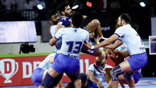The Thalaivas' defense functioned well in the second half.